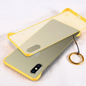 New Generation Frameless Ultra Thin Frosted Phone Case For iPhone phone case Rubili yellow IPHONE XS MAX