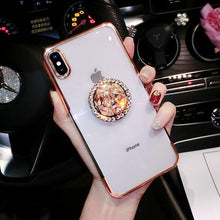 Load image into Gallery viewer, 2019 new fashion luxury flash diamond bracket case for iPhone