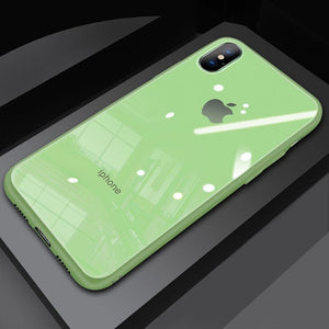 (Christmas Special) New Style Original Liquid Silicone Frame Tempered Glass Cover Phone Case For iPhone phone case articleunion green IPHONE XS MAX
