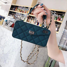 Load image into Gallery viewer, High Quality Crossbody Leather Bundle Phone Case for iPhone(Free Long Chain) phone case articleunion navy blue IPHONE XS MAX