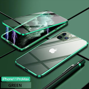 Upgrade Two Side Tempered Glass Magnetic Adsorption Phone Case For IPHONE phone case bytopone