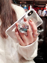 Load image into Gallery viewer, 2019 New Fashion Mirror Flash Diamond Airbag Bracket Mobile Phone Case For iPhone phone case Rubili Silver IPHONE XS MAX