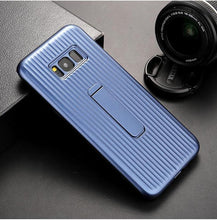 Load image into Gallery viewer, Vertical Protective Folding Bracket Anti-Skid Design Phone Case For Samsung Note8 / Note9 / S8 / S9 / S8Plus / S9Plus phone case Rubili blue SAMSUNG S9PLUS