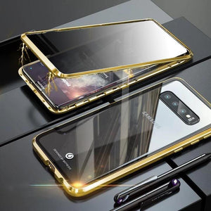 Anti-Peeping Privacy Magnetic Adsorption Two Side Tempered Glass Phone Case For Samsung Series phone case Article union gold SAMSUNG NOTE8