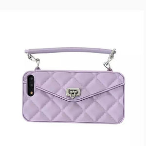 High Quality Crossbody Leather Bundle Phone Case for iPhone(Free Long Chain) phone case articleunion purple IPHONE XS MAX
