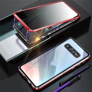 Anti-Peeping Privacy Magnetic Adsorption Two Side Tempered Glass Phone Case For Samsung Series phone case Article union red SAMSUNG NOTE8