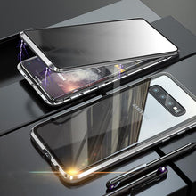 Load image into Gallery viewer, Anti-Peeping Privacy Magnetic Adsorption Two Side Tempered Glass Phone Case For Samsung Series phone case Article union silver SAMSUNG NOTE8