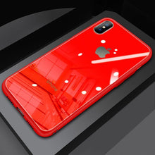 Load image into Gallery viewer, (Christmas Special) New Style Original Liquid Silicone Frame Tempered Glass Cover Phone Case For iPhone phone case articleunion red IPHONE XS MAX