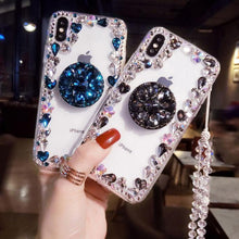 Load image into Gallery viewer, 2019 New Style Luxury Flash Diamond Airbag Bracket Phone Case