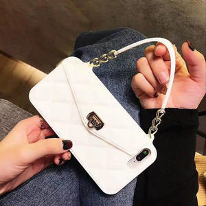 High Quality Crossbody Leather Bundle Phone Case for iPhone(Free Long Chain) phone case articleunion white IPHONE XS MAX