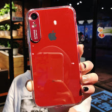Load image into Gallery viewer, Luxury Original Transparent PC Case For iPhone phone case Rubili red IPHONE XS MAX