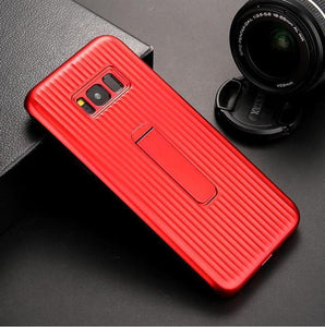 Vertical Protective Folding Bracket Anti-Skid Design Phone Case For Samsung Note8 / Note9 / S8 / S9 / S8Plus / S9Plus phone case Rubili red SAMSUNG S9PLUS