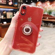 Load image into Gallery viewer, Luxury Anti-fall Glitter Powder ring bracket case for iPhone phone case Rubili