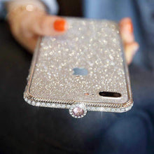 Load image into Gallery viewer, Crystal bling Anti-fall border case for IPHONE(Free Bling Crystal IPhone Film) phone case articleunion