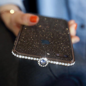 Crystal bling Anti-fall border case for IPHONE(Free Bling Crystal IPhone Film) phone case articleunion