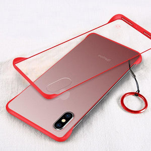 New Generation Frameless Ultra Thin Frosted Phone Case For iPhone phone case Rubili red IPHONE XS MAX