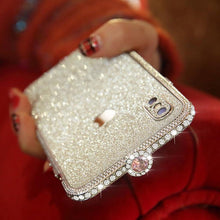 Load image into Gallery viewer, Crystal bling Anti-fall border case for IPHONE(Free Bling Crystal IPhone Film) phone case articleunion Bright silver IPHONE XS MAX