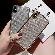 Load image into Gallery viewer, Luxury Plating Metal Rhinestone Glitter Bling Case for iPhone phone case Rubili