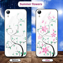 Load image into Gallery viewer, Flowering when exposed to UV Rays, new technology tempered glass phone case for iPhone phone case Article union summer flowers IPHONE XS MAX