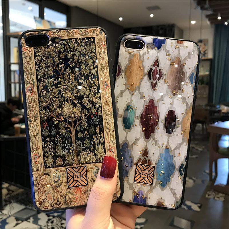 Luxury Vintage Platinum Glitter Phone Case for iPhone phone case articleunion white IPHONE XS MAX