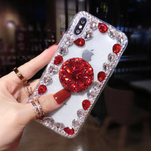 Load image into Gallery viewer, 2019 Hot Selling Luxury Fashion Airbag Diamond Kickstand Phone Case for iPhone phone case Article union red IPHONE XS MAX