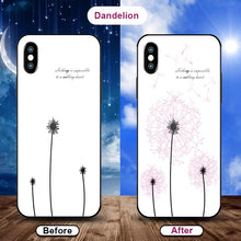 Load image into Gallery viewer, Flowering when exposed to UV Rays, new technology tempered glass phone case for iPhone phone case Article union dandelion IPHONE XS MAX