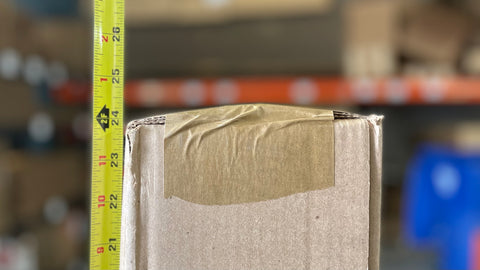 Box length measurement measured to the edge of a box
