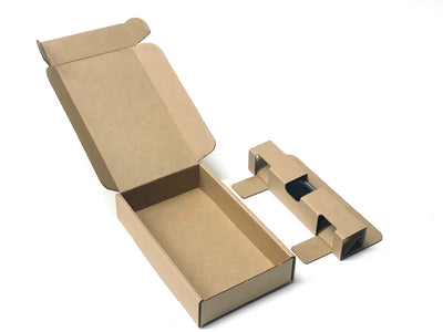 1 oz Bottle Shipper Box and Insert assembled