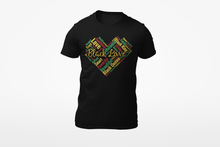 Load image into Gallery viewer, Vibe Luck Black Love African Heart Affirmations Short-Sleeve Unisex T-Shirt