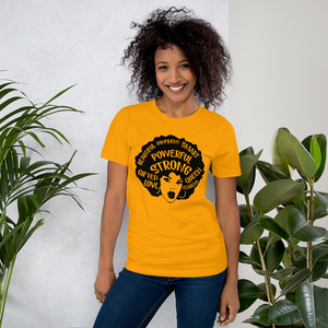 Vibe Luck Afro Black Powerful Strong Queen Short-Sleeve Women's T-Shirt