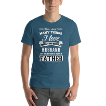 Load image into Gallery viewer, Vibe Luck I Love Being A Husband And Father Short-Sleeve Men's T-Shirt