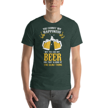 Load image into Gallery viewer, Vibe Luck You Can't Buy Happiness But You Can Buy Beer Short-Sleeve Men's T-Shirt