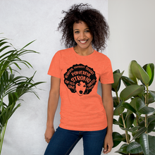 Load image into Gallery viewer, Vibe Luck Afro Black Powerful Strong Queen Short-Sleeve Women's T-Shirt