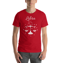 Load image into Gallery viewer, Vibe Luck Libra Balance Scale Zodiac Sign Birthday Short-Sleeve Unisex T-Shirt