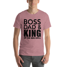 Load image into Gallery viewer, Vibe Luck Boss Dad King Of BBQ Grill Short-Sleeve Men's T-Shirt