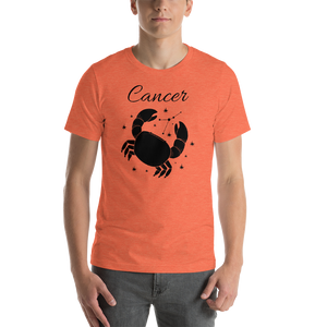 Vibe Luck Cancer Crab Zodiac Sign Birthday Short-Sleeve Unisex T-Shirt