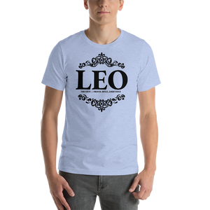 Vibe Luck Royal Leo Zodiac Sign Birthday Short-Sleeve Unisex T-Shirt