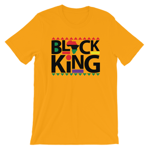 Vibe Luck Black African King Short-Sleeve Men's T-Shirt