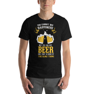 Vibe Luck You Can't Buy Happiness But You Can Buy Beer Short-Sleeve Men's T-Shirt