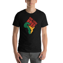 Load image into Gallery viewer, Vibe Luck Black Power One Love Africa Map Short-Sleeve Unisex T-Shirt