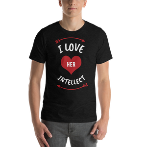 Vibe Luck I Love Her Intellect Couples Matching Short-Sleeve Men's T-Shirt