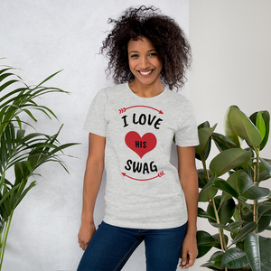 Vibe Luck I Love His Swag Couples Matching Short-Sleeve Women's T-Shirt