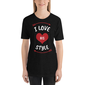 Vibe Luck I Love His Styles Couples Matching Short-Sleeve Women's T-Shirt