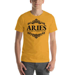 Vibe Luck Royal Aries Zodiac Sign Birthday Short-Sleeve Unisex T-Shirt