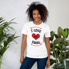 Load image into Gallery viewer, Vibe Luck I Love His Swag Couples Matching Short-Sleeve Women's T-Shirt