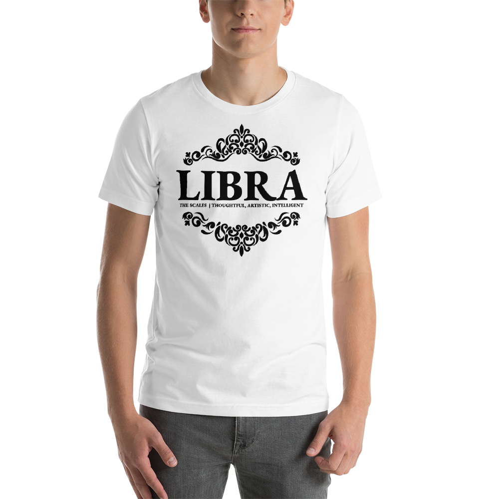 Vibe Luck Royal Libra Zodiac Sign Birthday Short-Sleeve Unisex T-Shirt