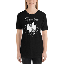 Load image into Gallery viewer, Vibe Luck Gemini Twins Zodiac Sign Birthday Short-Sleeve Unisex T-Shirt