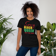 Load image into Gallery viewer, Vibe Luck Sexy Black Queen On The Rise Short-Sleeve Women's T-Shirt
