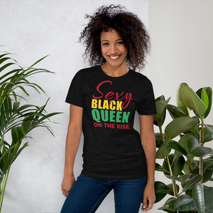 Vibe Luck Sexy Black Queen On The Rise Short-Sleeve Women's T-Shirt