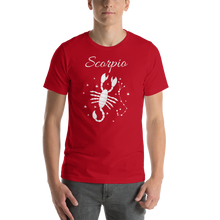 Load image into Gallery viewer, Vibe Luck Scorpio Scorpion Zodiac Sign Birthday Short-Sleeve Unisex T-Shirt